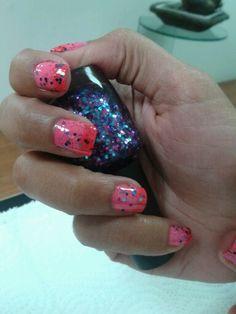 nails escarcha degradado