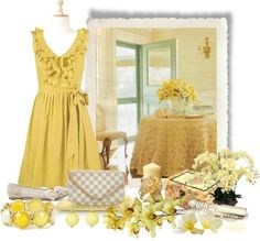 """""""Yellow orchids"""" by albaor ❤ liked on Polyvore"""