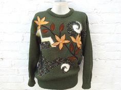 Olive sweater, knitted jumper, cosy warm winter pullover by retrobelluk on Etsy https://www.etsy.com/uk/listing/485865541/olive-sweater-knitted-jumper-cosy-warm