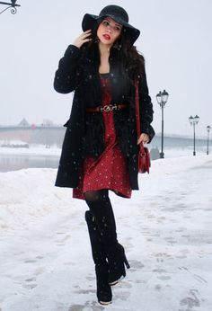 Stylish Winter Dress Outfit Idea for 2015