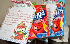 Kool-Aid Play Dough Kits via Sunla Designs *use as valentines for class
