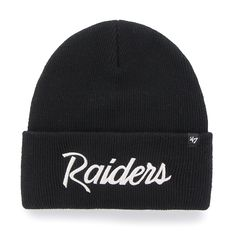 47 Brand Oakland Raiders Black Basic Raised Cuffed Sport Field Winter Stocking Beanie NFL: Take on the cold weather like a boss with this Oakland Raiders beanie hat from 47 Brand! Oakland Raiders Beanie, Swamp Theme, Winter Stockings, Hat World, Detroit Game, Hats For Sale, Hat Making, Beanie Hats, Caps Hats