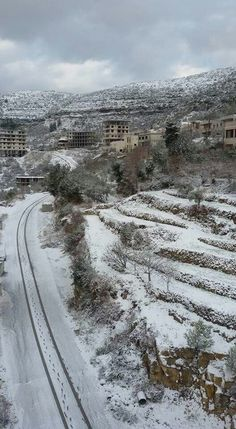 ثلوج وادي العيون ريف مصياف  Snow  Wadi aloyn Syria