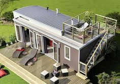 Excellent idea for vacation home! Could be part of a extended family vacation spot!