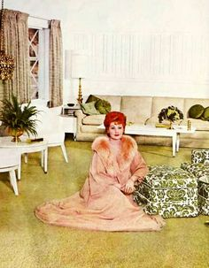Lucille Ball at home, 1960's.