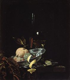 Still Life with Fruit, Glassware, and a Wan-li Bowl, 1659, Willem Kalf (Dutch), Oil on canvas (53.111)