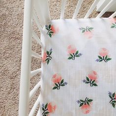 Crib sheet envy! @mrsjessiecornell Watercolor Rose Crib Sheets at spearmintLOVE.com
