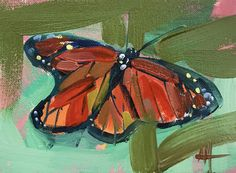 Monarch Butterfly no. 10 Original Oil Painting by Angela Moulton pre-order