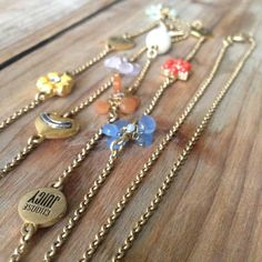 """Juicy Couture Long Charm Gold Necklace Perfect condition! Can be worn as a double wrap or just a long necklace. 40"""" chain. Charms are attached. Juicy Couture Jewelry Necklaces"""