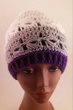 """This crochet beanie is an iconic and fashionable hat, and easily adaptable with any wardrobe.      Slightly slouchy, but fitted around the brim,  so it has room for your hair on those """"bad hair days.""""  Made with soft acrylic yarn.  Fits head circumference  21 to 22"""".      Can be machine washed in cold water, but I generally recommend  hand washing hand made items.  Dry flat.  Do not iron.    Want this in a different color?  Convo me. 