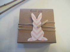 Rabbit Baby Shower favor box bunny pink chevron by CrazyPaperLove, $32.80