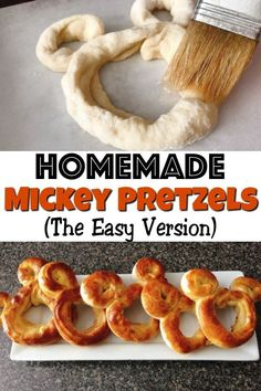 Mickey Pretzel Recipe (The Easy Way) - The Mommy Mouse Clubhouse Learn the easy way to make Mickey Pretzels, just like Disney! A simple, homemade pretzel recipe, ready in 10 minutes! Disney Desserts, Disney Snacks, Disney Recipes, Kid Recipes, Mickey Mouse Snacks, Recipies, Bretzel Recipe, Comida Disneyland, Disney Dinner