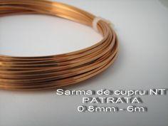 6m Sarma 0,8mm PATRATA de cupru (17 LEI la Made.in.Brasov.breslo.ro)