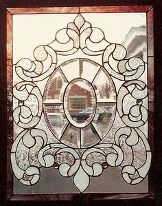 Stained Glass Window with Zipper-cut Beveled Ovak