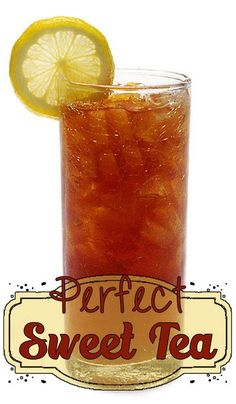 Perfect Sweet Tea Perfect Sweet Tea - Deja Vue Designs<br> This is a recipe for Southern Style Perfect Sweet Tea. Refreshing Drinks, Fun Drinks, Healthy Drinks, Beverages, Cold Drinks, Healthy Eats, Healthy Recipes, Mixed Drinks, Sweet Tea Recipes