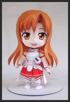 Sword Art Online - Chibi Asuna Free Figure Papercraft Download | PaperCraftSquare.com