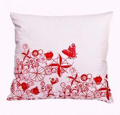 MOTHs by justynamedon hand screen printed cotton cushion