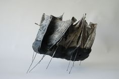 Leonie Gill,plaster,cloth,wax,steel and ink,2014