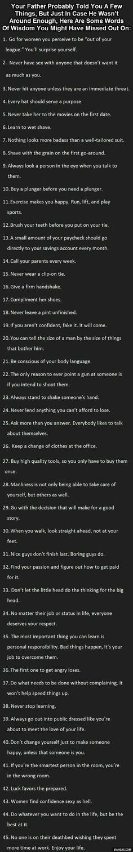 Words of wisdom for men.