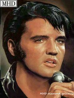 Elvis Presley -- Painted by Sara Lynn Sanders King Elvis Presley, Elvis Presley Family, Elvis And Priscilla, Elvis Presley Pictures, Portraits, Graceland, American Singers, Rock N Roll, Movie Stars