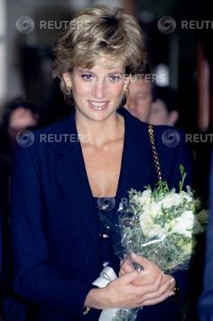 19 September, 1995 The Princess of Wales arrives at the Parkinson's Disease Research Centre at King's College September 19. Princess Diana has been patron of the Parkinson's Disease Society since 1989