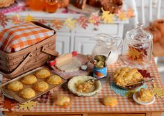 Miniature Fall Baking Apple Pies by CuteinMiniature on Etsy