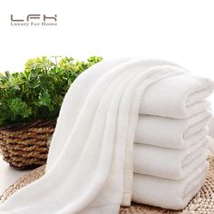 LFH 32X72CM 100g Quality White Hotel Towels Cotton Towel Set hand/face Towels For Adults Washcloths High Absorbent