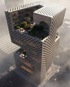 Name : Bank Libano-Française's (BLF) new headquarters Architect : Snøhetta Location : Lebanon - Beirut | archgrab on IG.