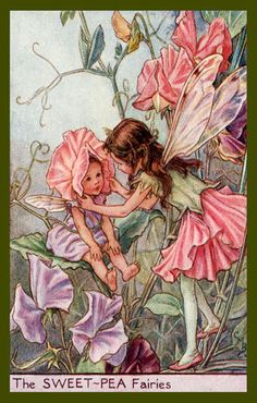 Olde America Antiques | Quilt Blocks | National Parks | Bozeman Montana : Cicely Barker Fairies - The Sweet Pea Fairy