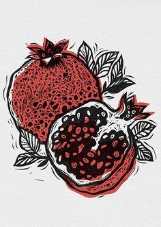 Print making -lesstalkmoreillustration: Alesya Nesolenova