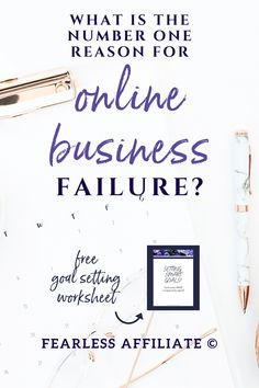 What is the #1 reason for business failure? by Fearless Affiliate. You can easily avoid failure with your online biz by reading these 5 mistakes to avoid. Learn from those who failed before you. #success #goalsetting #marketing #sidehustle