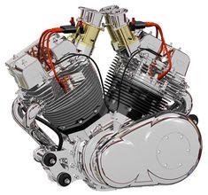 Bad Dog 215 cubic inch V-Twin engine