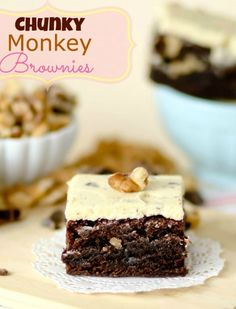 Chunky Monkey Brownies -- if you like the Ben & Jerry's Ice Cream, you will FLIP over these brownies!! The frosting tastes just like the ice cream.