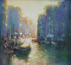 Norman SMITH-Venice Evening - Paintings of Italy by British artists at www.redraggallery.co.uk