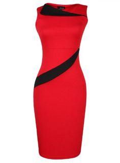 Boxingcat Womens Celebrity Lace Splicing Evening Pencil Midi Bodycon Dress