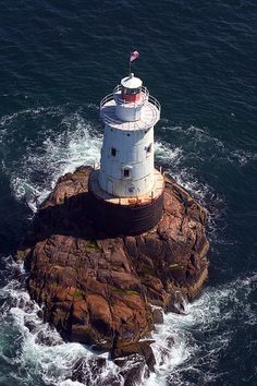 Sakonnet Lighthouse, Rhode Island - aerial by nelights, via Flickr