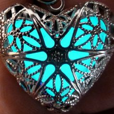 Amazon.com: Steampunk Fairy Magical Fairy Glow in the Dark Necklace-aqua-sil: Clothing