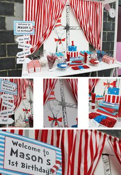 PAPER AND STYLE CO.: Lolly Buffet: Cat In The Hat 1st Birthday