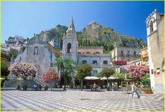 St. Joseph's church in the piazza on Corso Umberto, Taormina, Sicily.