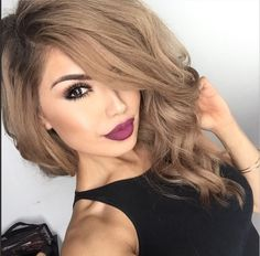 """Heart melting beautiful ✨@iLuvSarahii✨ flaunting Flutter® Lashes in #ROXANNE and #DoseofColors """"BerryMe"""" on lips"""