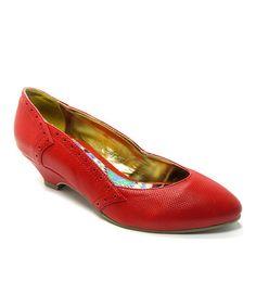 Look at this #zulilyfind! Red Irene Kitten Heel #zulilyfinds