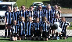 U16 Girls after the Semi Final. Still smiling!