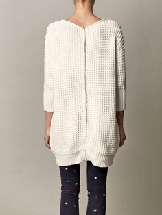 Zipper down the back- just another reason to love this sweater. Acne.