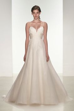 fb06db3793d  Gracie  spaghetti strap wedding dress by nouvelle Amsale