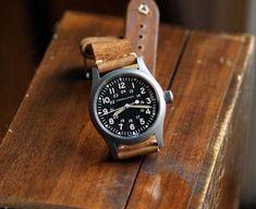 B&R Bands - Oak Classic Vintage Watch Band on a Hamilton Khaki Field Mechanical Watch Hamilton Field Watch, Hamilton Khaki Field, Best Watches For Men, Cool Watches, Old Man Fashion, Men's Fashion, Fashion Jewelry, Paracord Watch, Field Watches