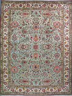 "Tabriz Persian Rug, Buy Handmade Tabriz Persian Rug 9' 6"" x 12' 8"", Authentic Persian Rug"