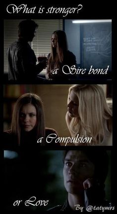 I beilieve Love is stronger becuase Tyler broke his Sire bond to Klaus and there is Vervain for Compulsion but Love is strong <3