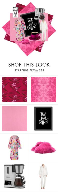 """""""But First Coffee"""" by lindsaywassel ❤ liked on Polyvore featuring Timorous Beasties, Designers Guild, Casadeco, Americanflat, PiP Studio, Lust For Life, Cuisinart and Bedhead Pajamas"""