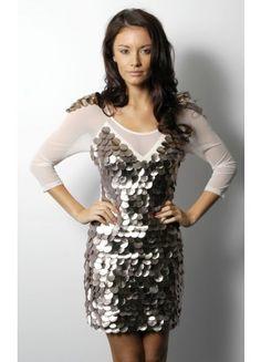 Reasonable 3/4-Length Sleeve Spandex Column Mini Scoop NightClub Dresses - Wedding Dresses