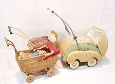 Rattan-Kinderwagen, versch. Größen, zwischen 60 cm - 80 cm